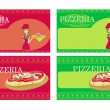 Pizza Menu Template set — Stock Vector