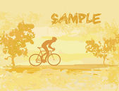 Cycling Grunge Poster Template vector — Stock Vector