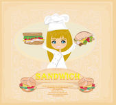 Template designs of fast food menu — Stock Vector