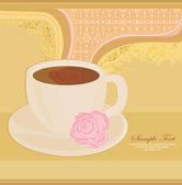 Kopje koffie met abstracte ontwerpelementen — Stockvector