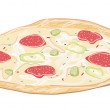 Stock Vector: Fresh pizza
