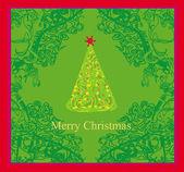 Abstract christmas tree card — Stock Vector