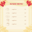 Template of traditional Japanese food menu — Imagen vectorial