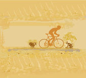 Radfahren poster — Stockvektor