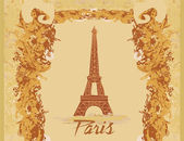 Vintage eiffel card — Stock Vector