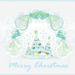 Abstract christmas tree card - Stock vektor
