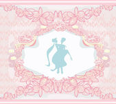Elegant wedding invitation — Stock Vector