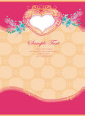 Romantic vintage with heart invitation — Stock Vector