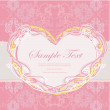 Romantic vintage with heart invitation — Stock Vector