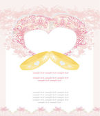 Wedding Invitation card with rings — Stock Vector