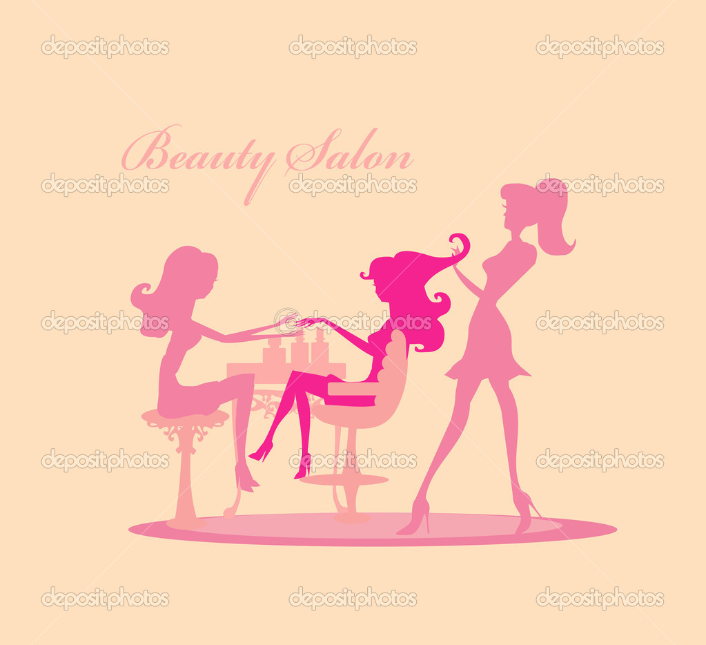 Vector illustration of the beautiful woman in beauty salon for Aaina beauty salon electronic city