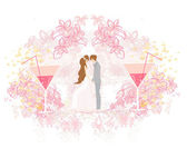 Wedding couple background — Stock Photo