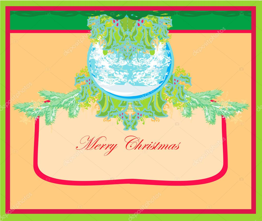 Christmas Framework style card.  — Stock Photo #9242890
