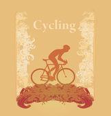 单车 grunge 海报 — 图库照片