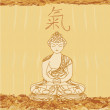 Vector of Chinese Traditional Artistic Buddhism Pattern — Stock Photo #9355858