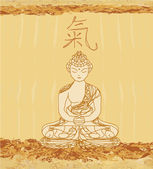 Vector of Chinese Traditional Artistic Buddhism Pattern — Foto de Stock