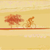 Cycling Grunge Poster Template vector — Stock Photo