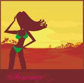 Tropical girl Poster — Stock Photo