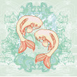 Japanese koi vector background — Stock Photo