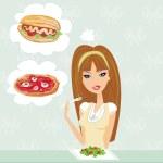 Diet eating temptation — Stock Photo