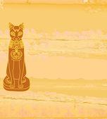 様式化されたエジプトの猫 — ストック写真