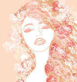 Abstract Beautiful Woman poster — Stock Photo