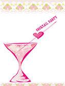 Inbjudan till födelsedagsfest cocktail — Stockfoto