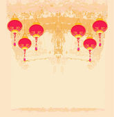 Chinese New Year card, vector — Stock Photo