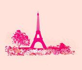 Vintage retro Eiffel card — Stockfoto