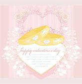 Carta di invito di nozze con anelli — Foto Stock