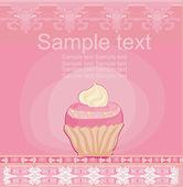 Carta d'epoca con cupcake — Foto Stock