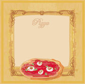 Modelo de menu de pizza — Fotografia Stock