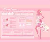 Fashion shopping Website template — Stock Photo