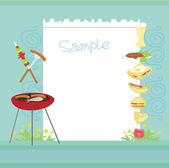 Barbecue Party Invitation with copy space — Stock Photo