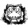 Abstracted doodles Tiger Vector — Stock Photo