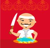 Japanse chef-kok — Stockfoto