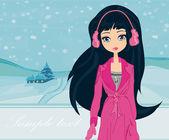 冬季女孩 — 图库照片