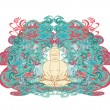 Vector of Chinese Traditional Artistic Buddhism Pattern — Stock Photo #9670961