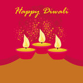 Abstract diwali celebration background, vector illustration — Photo
