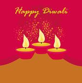 Abstract diwali celebration background, vector illustration — Foto de Stock