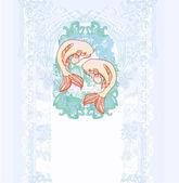 Japanese koi background — Stock Photo