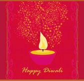 Abstract diwali celebration background, vector illustration — ストック写真