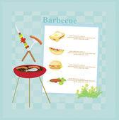Barbecue Party Invitation — Stock Photo