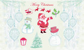 手绘圣诞涂鸦 — 图库照片
