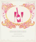 Uitnodiging voor verjaardagsfeestje cocktail — Stockfoto