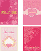 Valentine's day. Vector cards set — Stock Photo