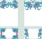 Lindo quadro floral com espaço para seu texto — Fotografia Stock