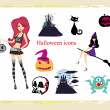 Halloween vector icons set — Stock Photo