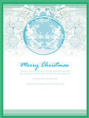 Christmas Framework style card. — Stock Photo