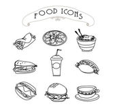 Fast food set — Stock Photo